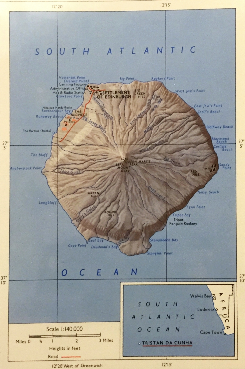 Th March Visit From Dunfermline Philatelic Society - Tristan da cunha map